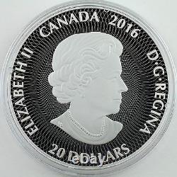 2016 $20 Canadiana Kaleidoscope Polar Bear, 60mm 1 oz. Silver Color Proof Coin