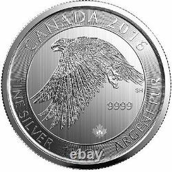 2016 Canadian Snow Falcon 1.5 oz. 9999 Silver BU Round Limited Bullion Coin