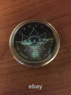 2016 Glow in the Dark UFO Maple Leaf 1oz Silver Coin ONLY NO Box/COA