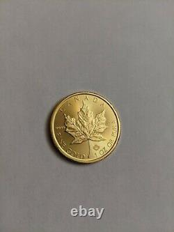 2017 Canadian Maple Leaf 1 Oz. 9999 Fine Gold $50 Dollar Coin