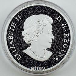 2018 $50 Holiday Splendor, 5 oz. Pure Silver Coin with Murano Glass Poinsettia