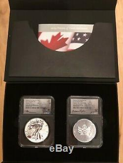 2019 CAN Pride of Two Nations Limited Edition Two-Coin Set FDI NGC PF70