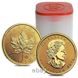 2019 Canada 1 oz Gold Maple Leaf $50 Coin ROYAL CANADIAN MINT. 9999 PURE GOLD