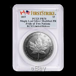 2019 RCM Pride of Two Nations 2-Coin Set PR-70 PCGS (FS) SKU#195547