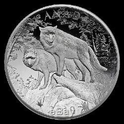 2019 RCM Silver $100 Double Concave Nature's Grandeur Wolves SKU#185329