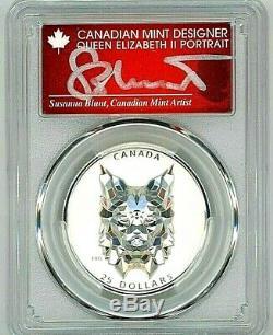 2020-$25 Canada High Relief Multifaceted Lynx-pcgs Pr70-fdoi-susanna Blunt