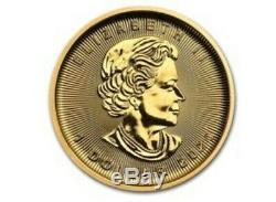 2020 Canada 1/20 Oz Gold Maple Leaf In Mint Pkg. BU