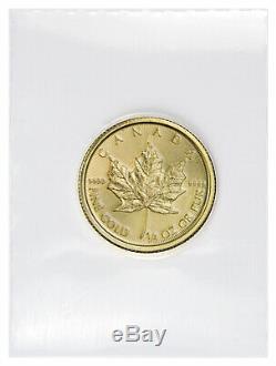 2020 Canada 1/4 oz Gold Maple Leaf $10 Coin GEM BU Mint Sealed SKU60072