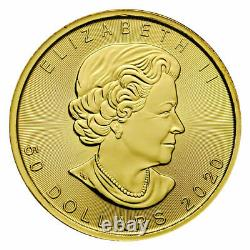 2020 Canada 1 oz Gold Maple Leaf $50 Coin ROYAL CANADIAN MINT. 9999 PURE GOLD