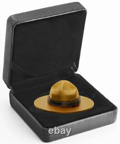 2020 Canada Classic Mountie Hat Shaped 1.5 oz Silver Gilt Proof $25 Coin Gem