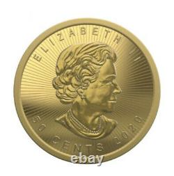 2020 Canada Gold 1 Gram Maple Leaf. 9999 Fine from maple gram sheet