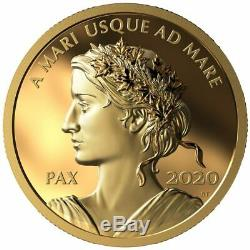 2020 Royal Canadian Mint Pure Gold Peace Dollar