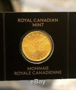 2020 Royal Canadian Mint RCM 1g One Gram 9999 Pure Gold Maple Leaf Coin Invest