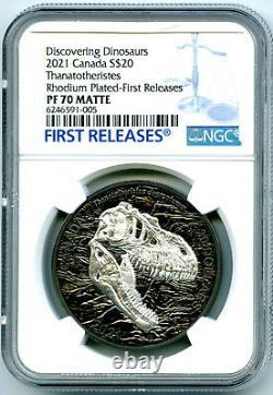 2021 $20 1oz Canada Reaper Of Death Black Rhodium Ngc Pf70 Matte Silver Proof Fr