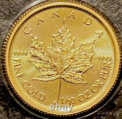 2021 5 Dollars Canada 1/10 oz Gold Maple Leaf BU Mint Sealed