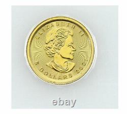 2021 Canada 1/10 oz Gold Maple Leaf $5 Coin GEM BU