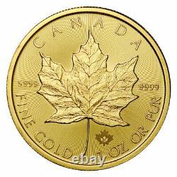 2021 Canada 1 oz Gold Maple Leaf $50 Coin GEM BU PRESALE