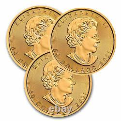 2021 Canada 1 oz Gold Maple Leaf BU Lot of 3 Coins