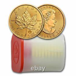 2021 Canada 1 oz Gold Maple Leaf BU Tube of 10 Coins