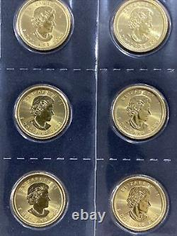 2021 Canada 5 Dollars 1/10 oz Gold Maple Leaf. 9999 BU Mint Sealed