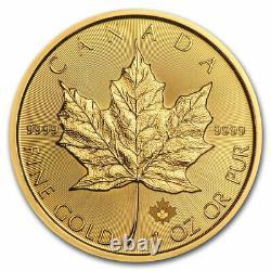 2021 Canadian 1 oz Gold Maple Leaf $50 Coin. 9999 Fine BU