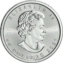 2021 Platinum 1 oz Canadian Maple Leaf $50 Coin. 9995 Fine BU