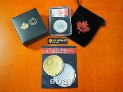 2021 W $5 Tailored Specimen Silver Maple Leaf Ngc Sp70 Fdi Susan Taylor Signed