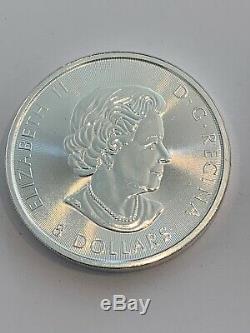 22.5 oz total 2016 1.5 oz Canadian White Silver Falcon $8 Coin. 9999 BU Roll 15