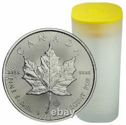 25 x 2020 1oz Silver Canadian Maple Leaf Bullion Coin in Tube (UK Seller)