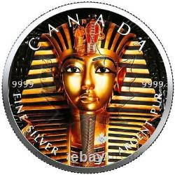 $5 Canada 1 oz Silver KING TUT Maple Leaf Coin. 9999 Fine Limited Mintage