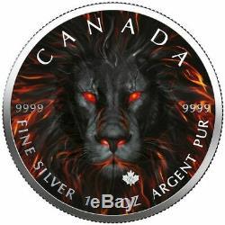 $5 Canada 1 oz Silver Maple Leaf SPIRIT LION. 9999 Box, Capsule, Coa