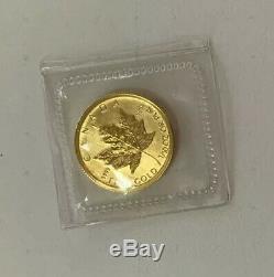 BU 2009 1/10 oz Canadian Gold Maple Leaf in Mint Sleeve Gem