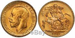 CANADA. George V 1914-C AV Sovereign. PCGS MS65+ Royal Canadian Mint S-3997