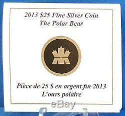 Canada 2013 $25 Polar Bear 1 oz. 99.99% Pure Silver Proof Commemorative Coin