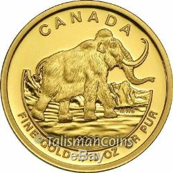 Canada 2014 Woolly Mammoth Prehistoric $5 1/10 Oz Pure Gold Proof NGC PF70 UC ER
