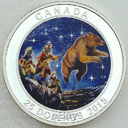 Canada 2015 $25 Great Ascent Pure Silver Glow-in-the-Dark Color Proof Coin #3