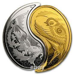 Canada 2019 200$ Yin and Yang Sparrow and Koi Fish Gold coin Royal Canadian Mint