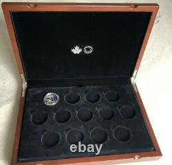 Deluxe Royal Canadian Mint Display Case (with 13 slots) + 2017 1/2 oz. Silver coin