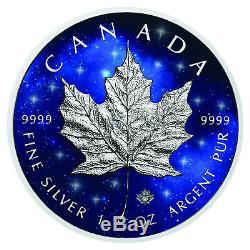 Glowing Galaxy Maple Leaf 2019 1 OZ Unze Ounce Once Silber Silver Kanada Canada