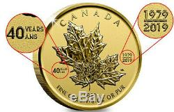 I/4 Ounce. 9999 Reverse Proof Limited Edition Maple Leaf