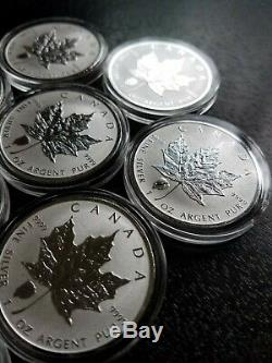 LOT (10) 2018 Canadian Maple Leaf Bison Reverse Privy 1 oz. 9999 $5 Silver Coin