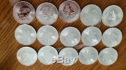 Lot 15 1oz canadian silver maple 2020