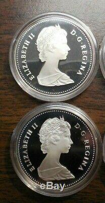 Lot of 10- 1982 Canada. 500 Silver Proof Dollars Regina Centennial -In Boxes