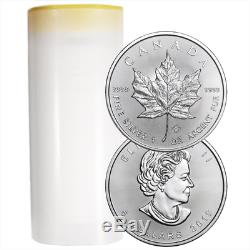 Lot of 10 2019 $5 Silver Canadian Maple Leaf 1 oz Brilliant Uncirculated