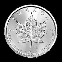 Lot of 100 x 1 oz 2020 Canadian Maple Leaf Silver Coin