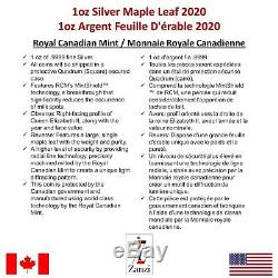 Lot of 25 x 1oz 2020 Canadian Maple Leaf Silver Coin
