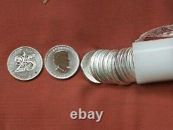 MINT ROLL 2013 Canada Sliver Maple Leaf Coins lot of 25 1oz. 9999 Pure Silver