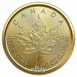 Presale 2020 $5 Gold Canadian Maple Leaf. 9999 1/10 oz Brilliant Uncirculated