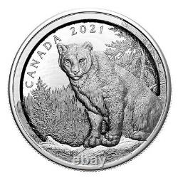 Pure Silver Coin Multilayered Cougar 2021 Royal Canadian Mint (Pre-order)