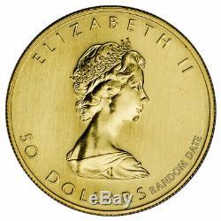 Random Date Canada 1 oz. 999 Fine Gold Maple Leaf $50 Coin SKU26124